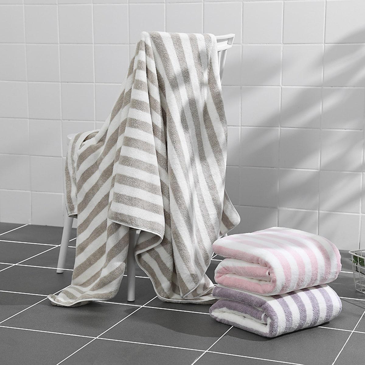 1pc gestreepte absorberende badhanddoek