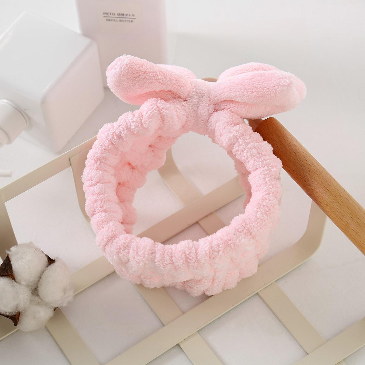 Fluffy teddy haarband