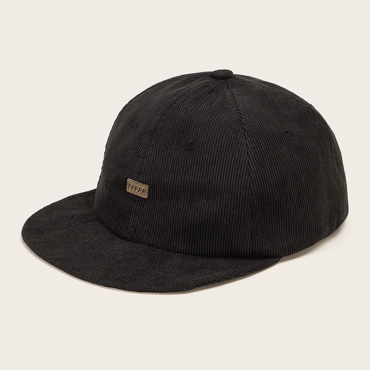 Heren baseball cap met grafische letters
