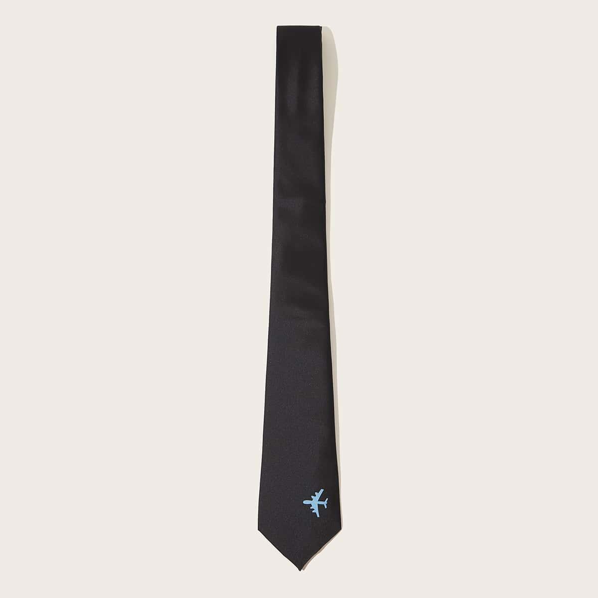 Mannen vliegtuig patroon stropdas