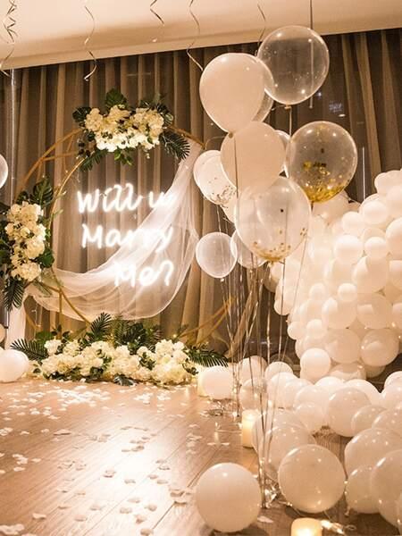 40pcs Confetti & Solid Balloon Set