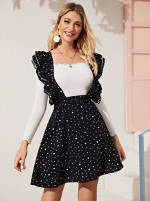 Ruffle | Polka | Skirt | Back | Dot