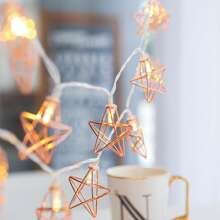 1.5M Hollow Star Shaped Bulb String Light