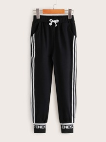 Drawstring | Sweatpant | Toddler | Stripe | Girl