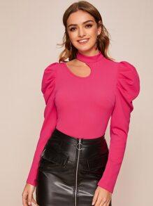 Shoulder | Sleeve | Neon | Pink | Top