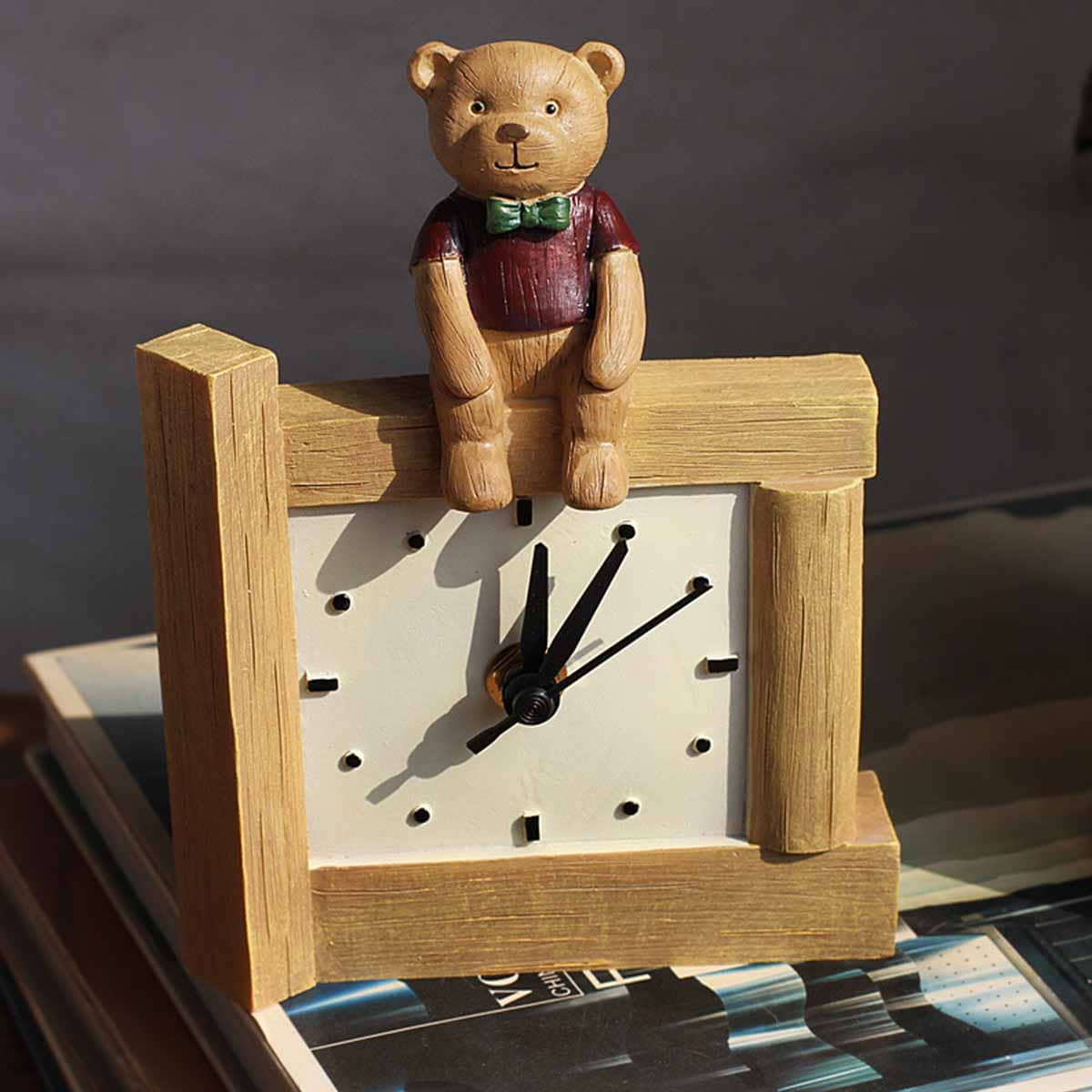 Bear Decor Desktop Clock
