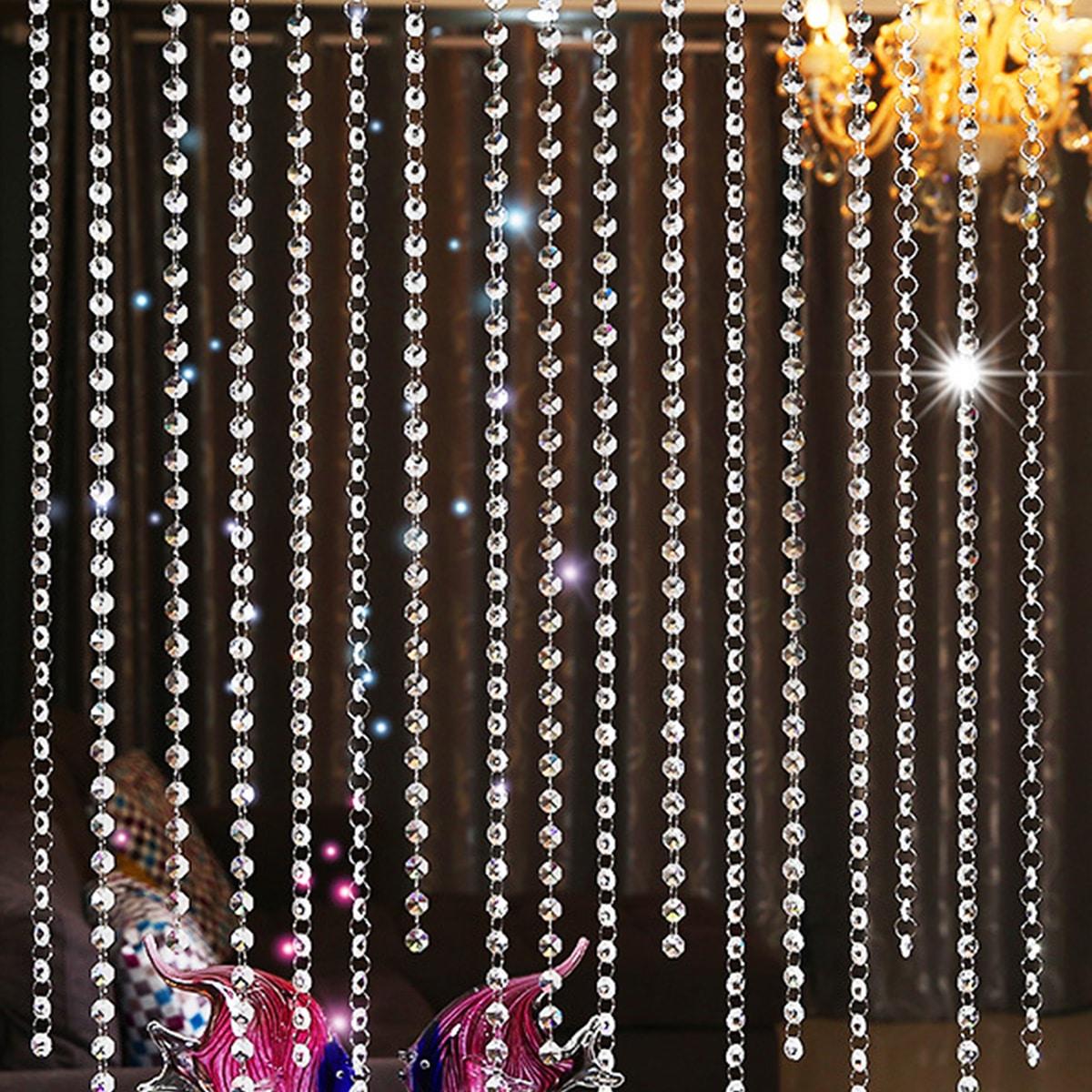 Helder kristal kralengordijn