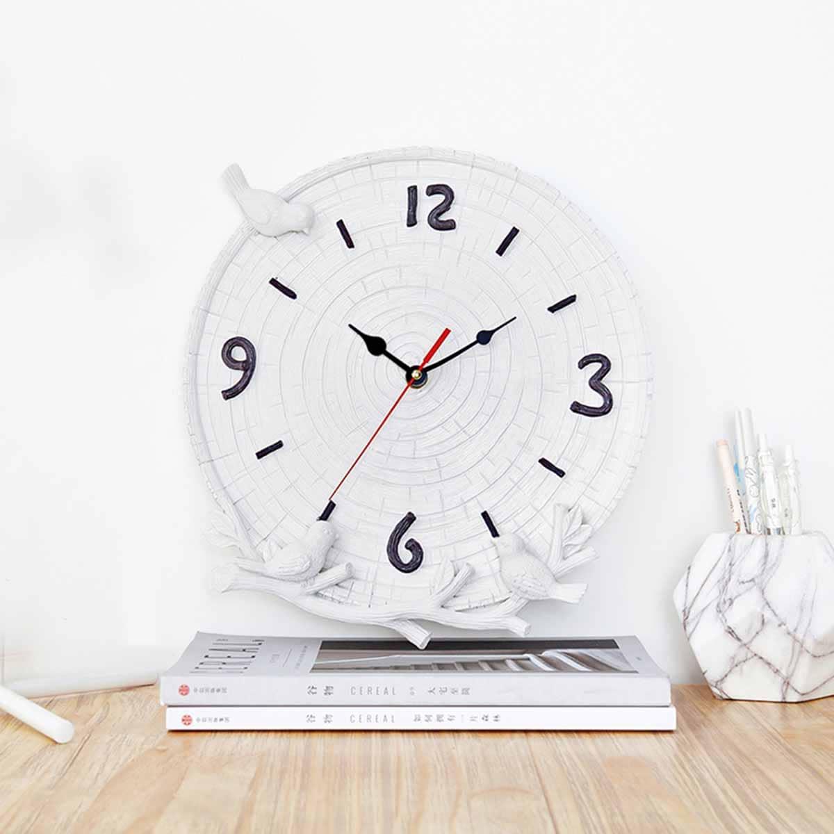 Bird Decor Desktop Clock