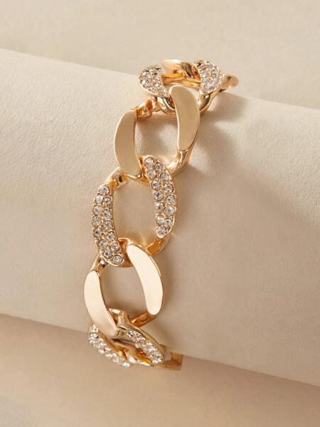 1pc Rhinestone Decor Chain Bracelet