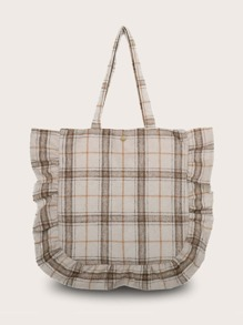 Ruffle | Decor | Plaid | Tote | Bag