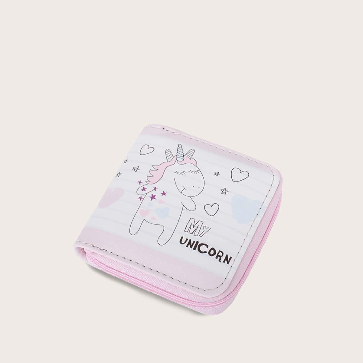 Girls Unicorn Graphic Purse