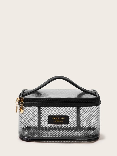 Mesh Pattern Makeup Bag
