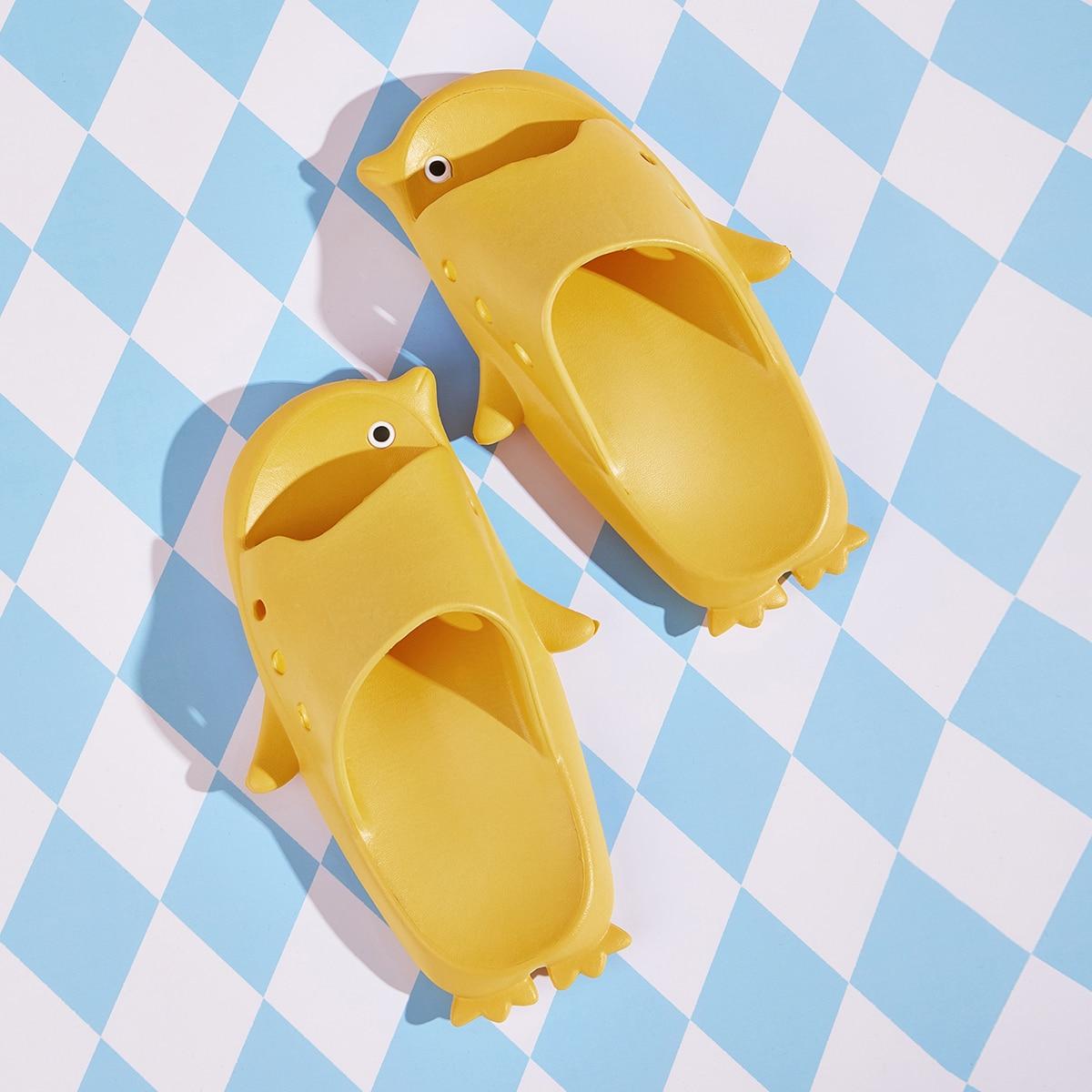 Geel Comfortabel Vlak Kinder slippers