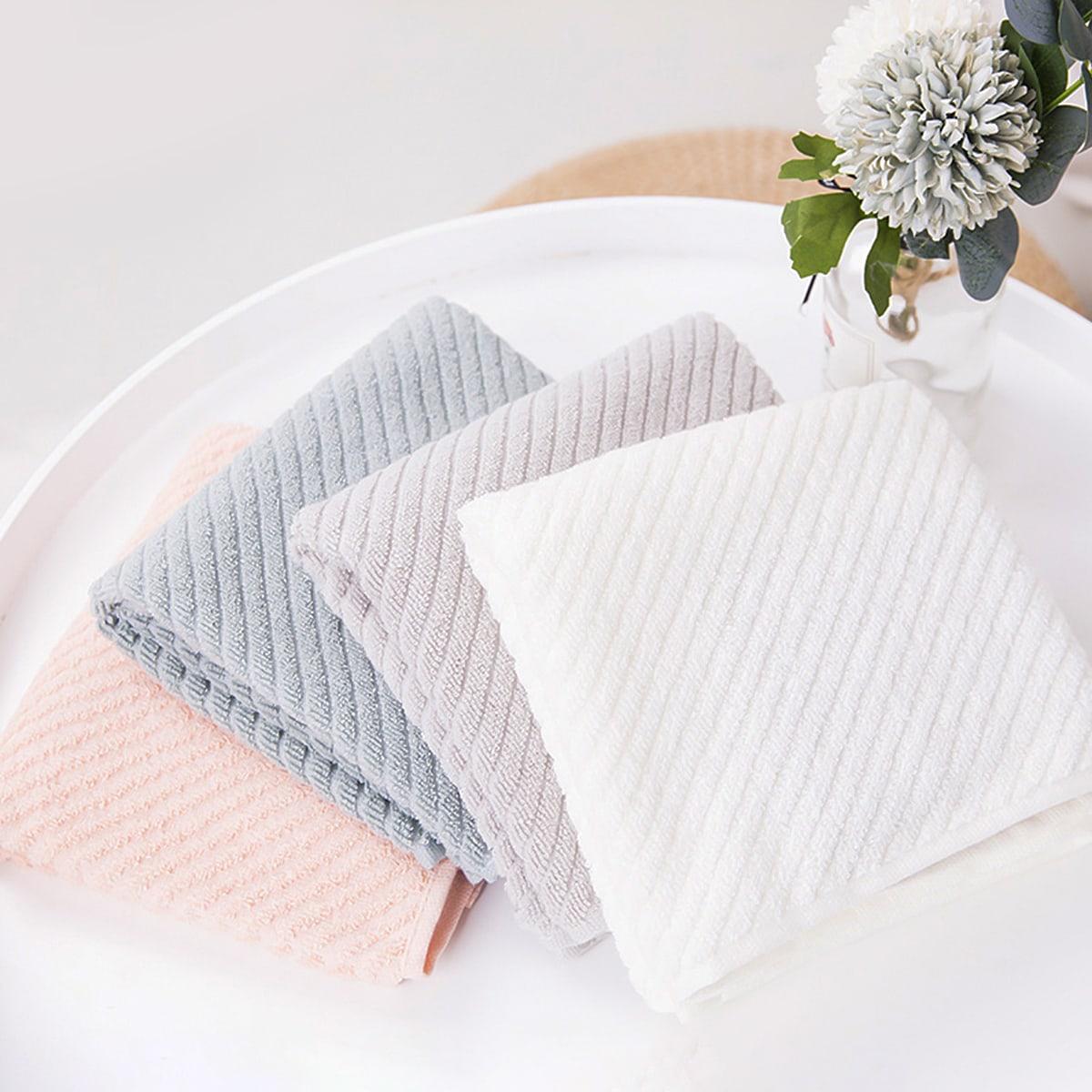 1pc willekeurige kleur effen handdoek