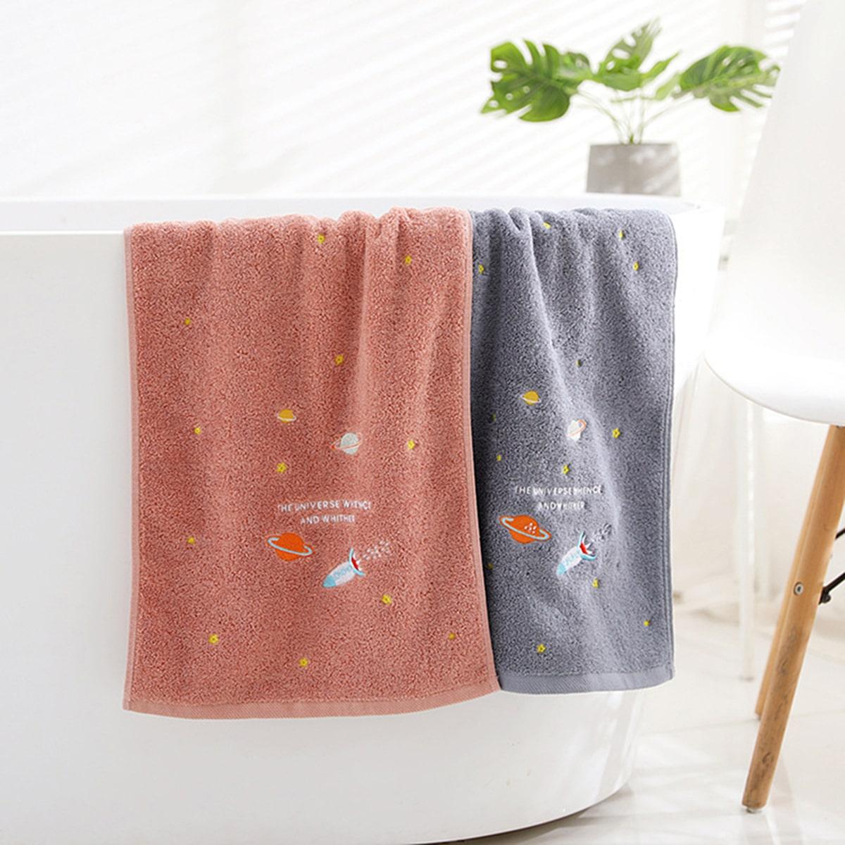 1pc ruimteschip borduurwerk handdoek