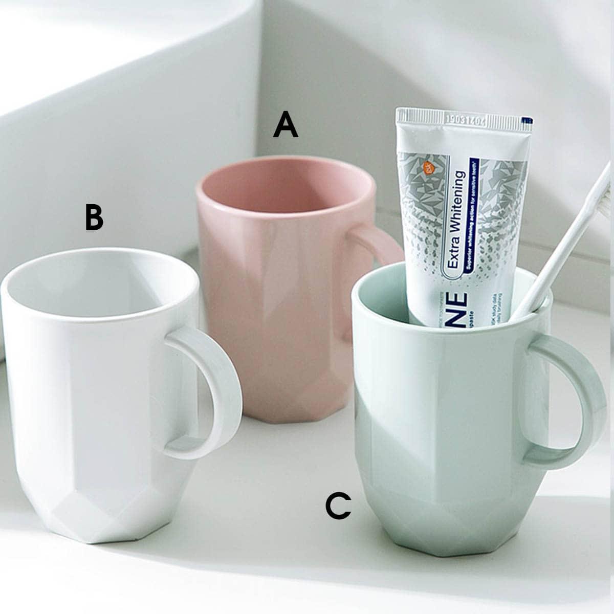 1pc effen kleur tandenborstelbeker