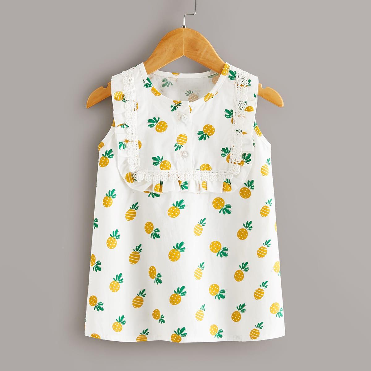 Платье с принтом ананаса для девочек от SHEIN