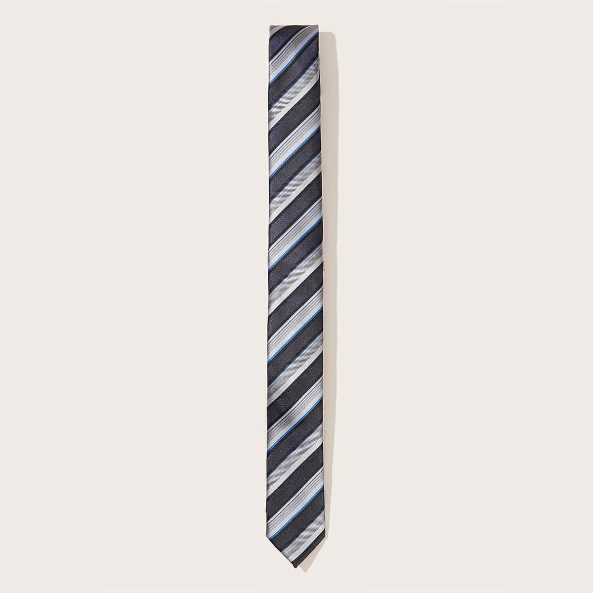 Mannen gestreepte stropdas
