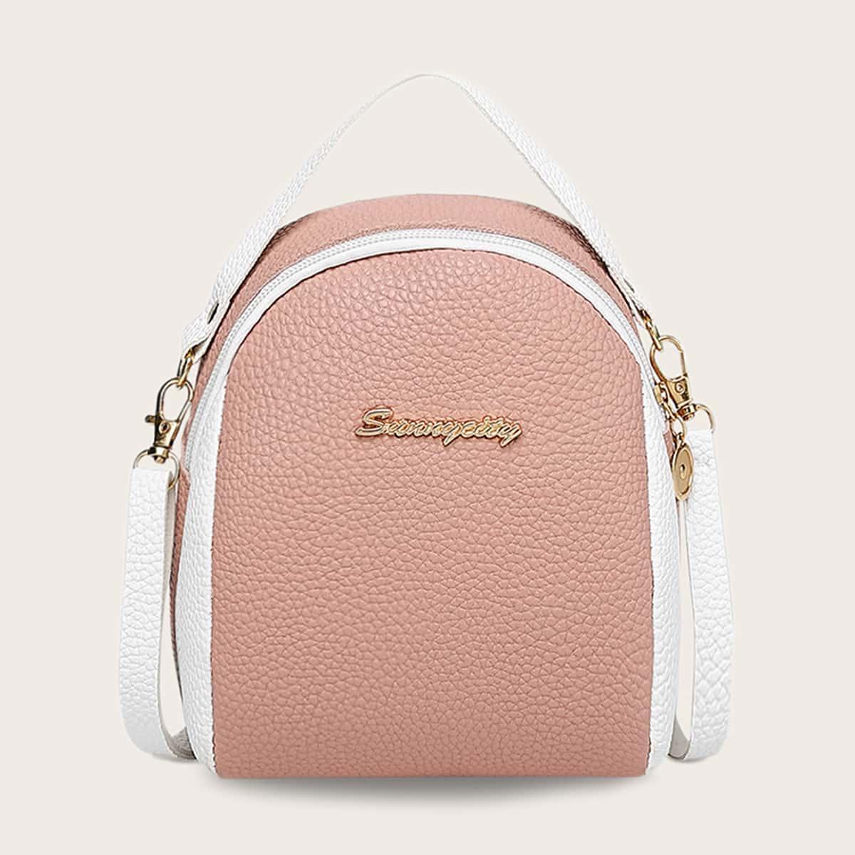 Satchel-tas met metalen detail voor meisjes