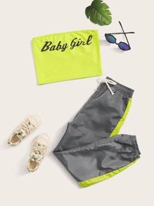 Neon   Tube   Girl   Pant   Top   Set