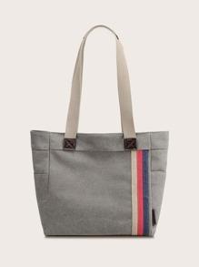 Canvas | Stripe | Tote | Bag
