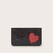 Glitter Heart Patch Decor Purse (swbag03200103725) photo