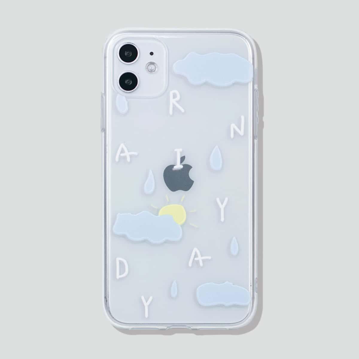 Чехол для iPhone с принтом Cloud Print