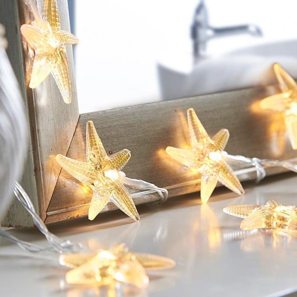10 stks Clear Starfish Shaped Bulb String Light
