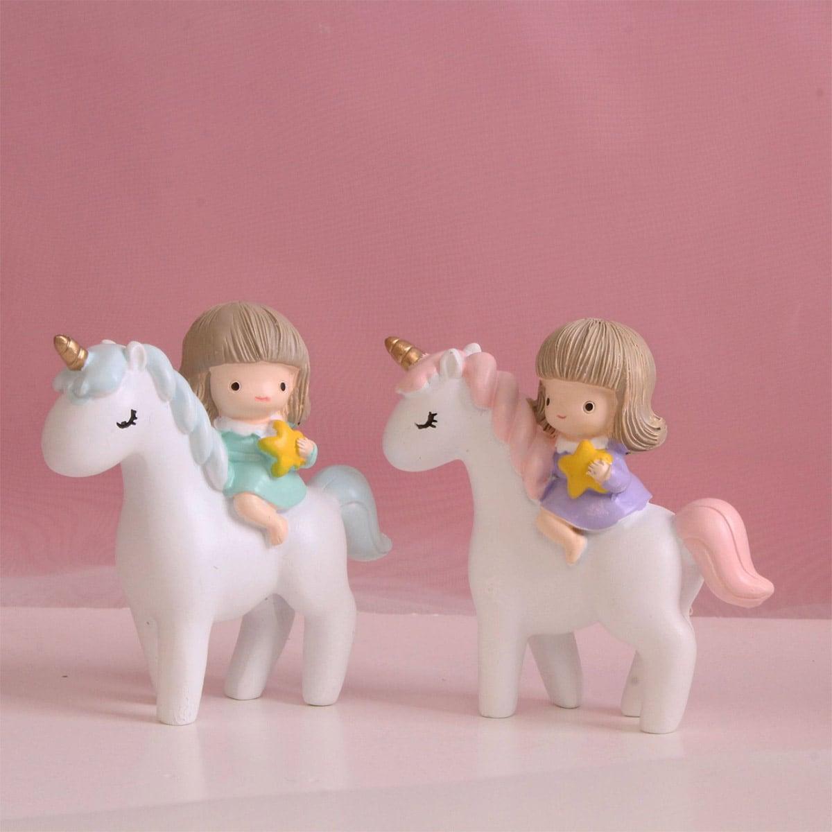 1 stuk Eenhoorn & meisje decoratief object