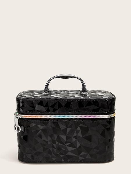 PU Patch Makeup Bag