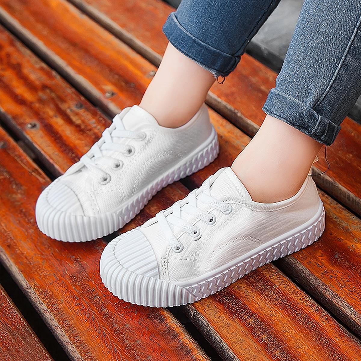 Холщовые кроссовки для девочек от SHEIN