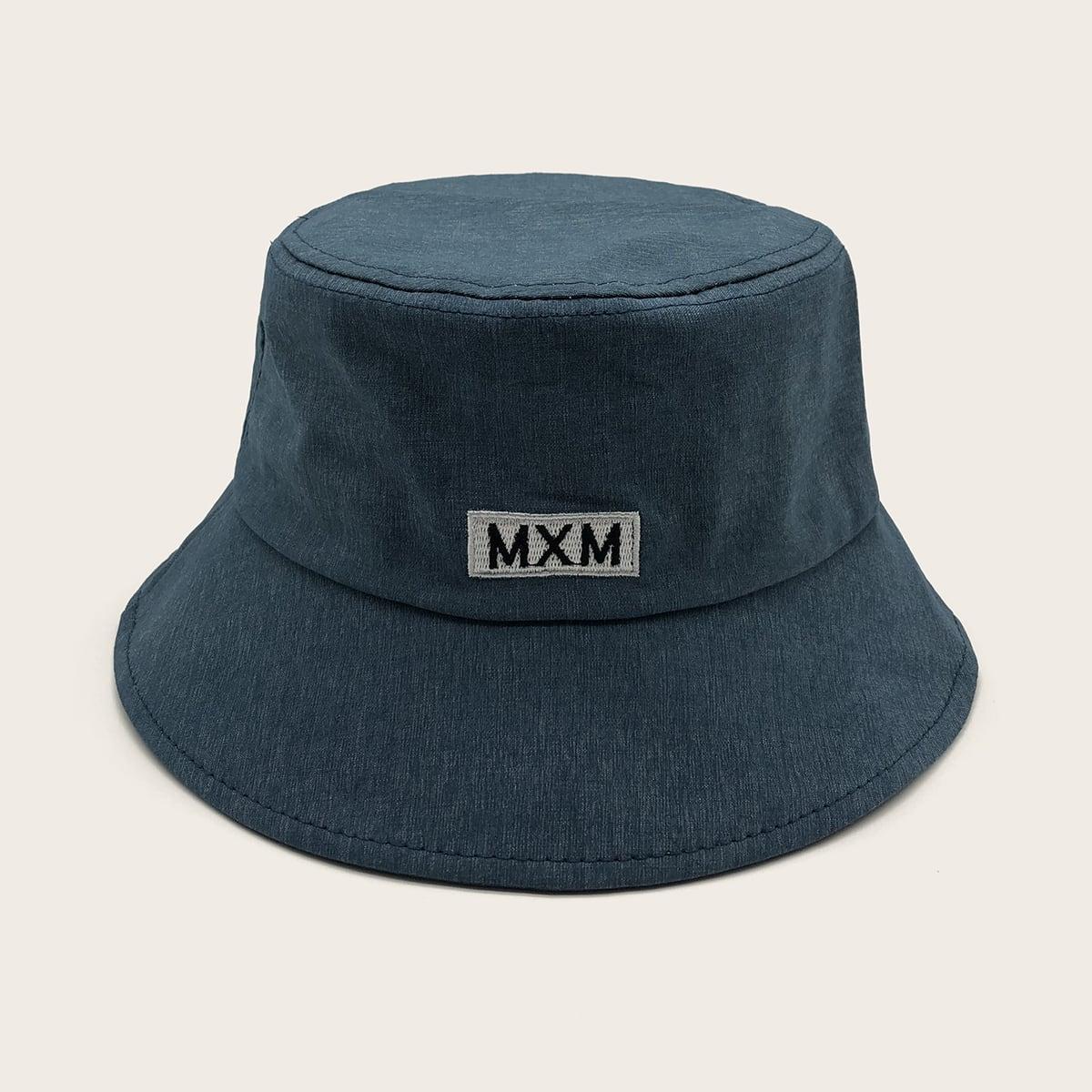 Mannen brief borduurwerk emmer hoed