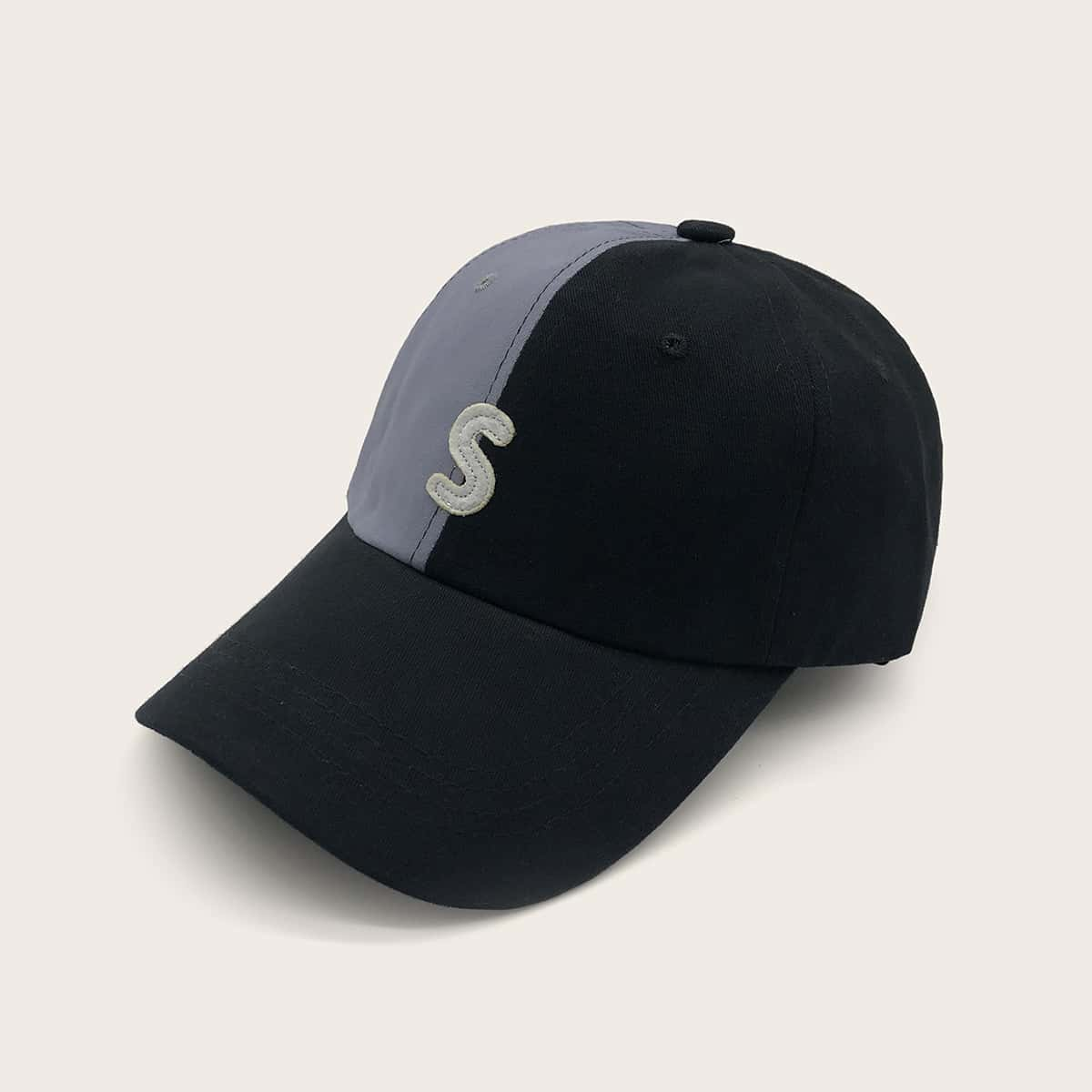 Heren baseball cap met kleurenblok