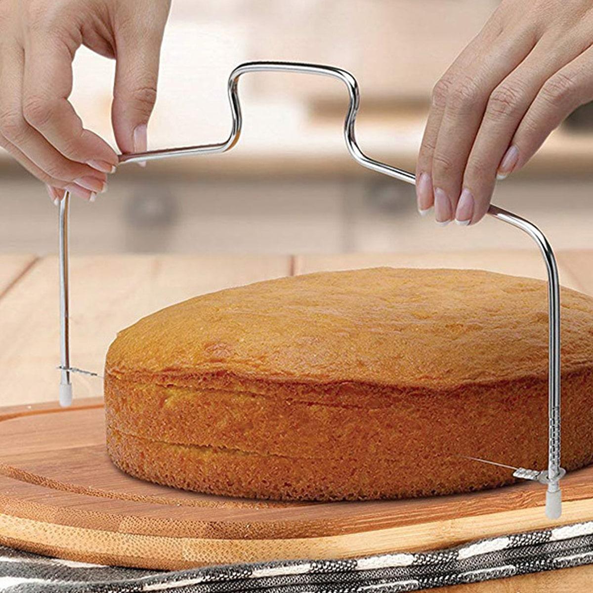 Verstelbare roestvrijstalen cakeschaaf