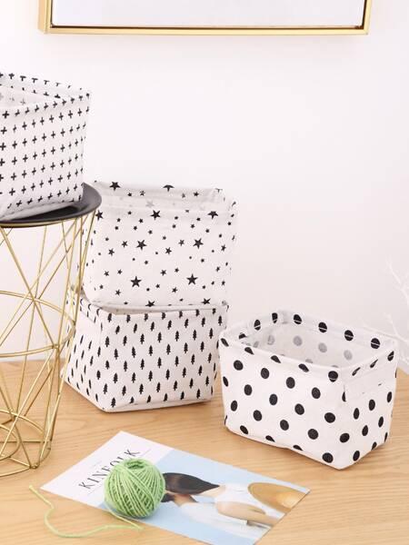 1pc Simple Pattern Storage Basket