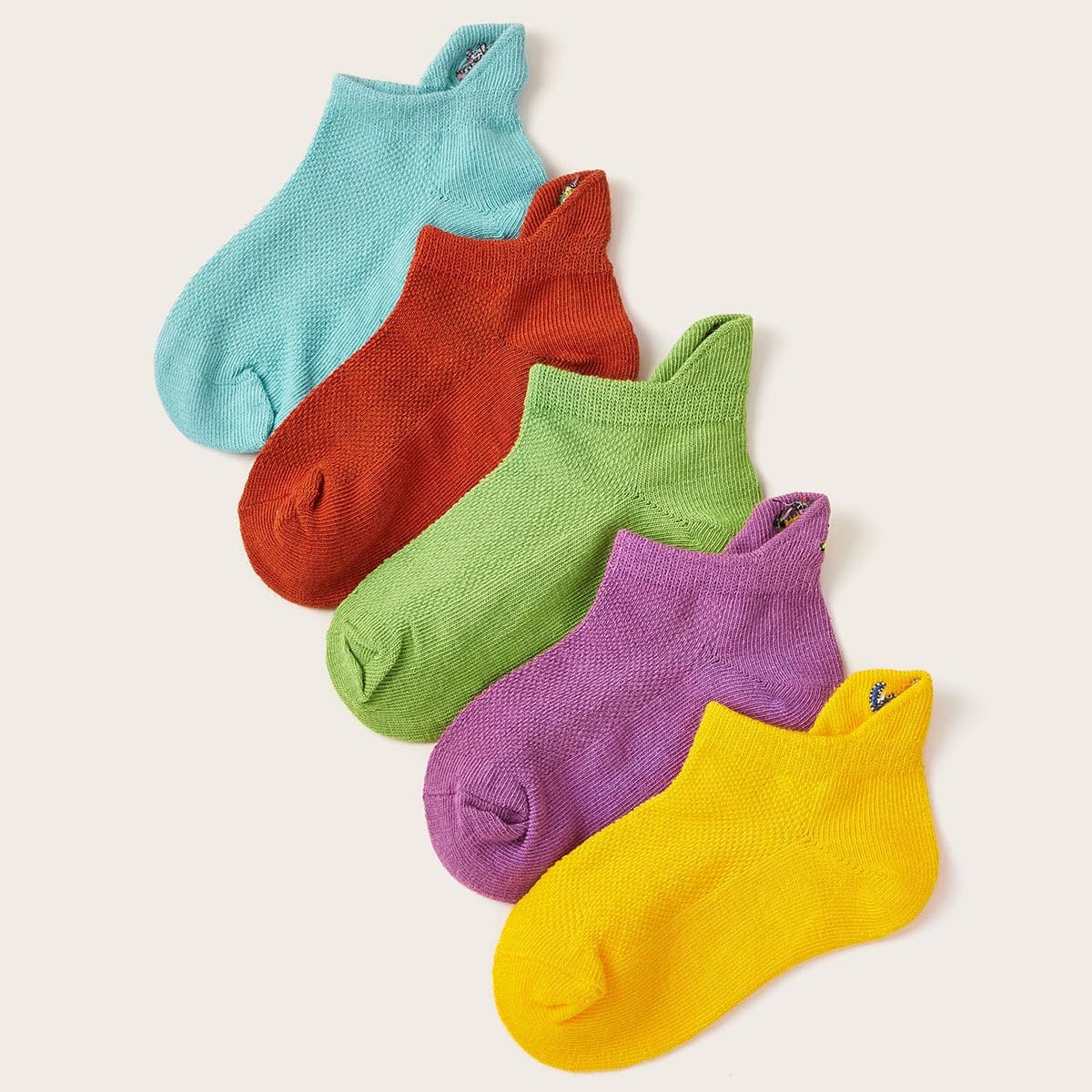 SHEIN / 5pairs Toddler Boys Simple Ankle Socks