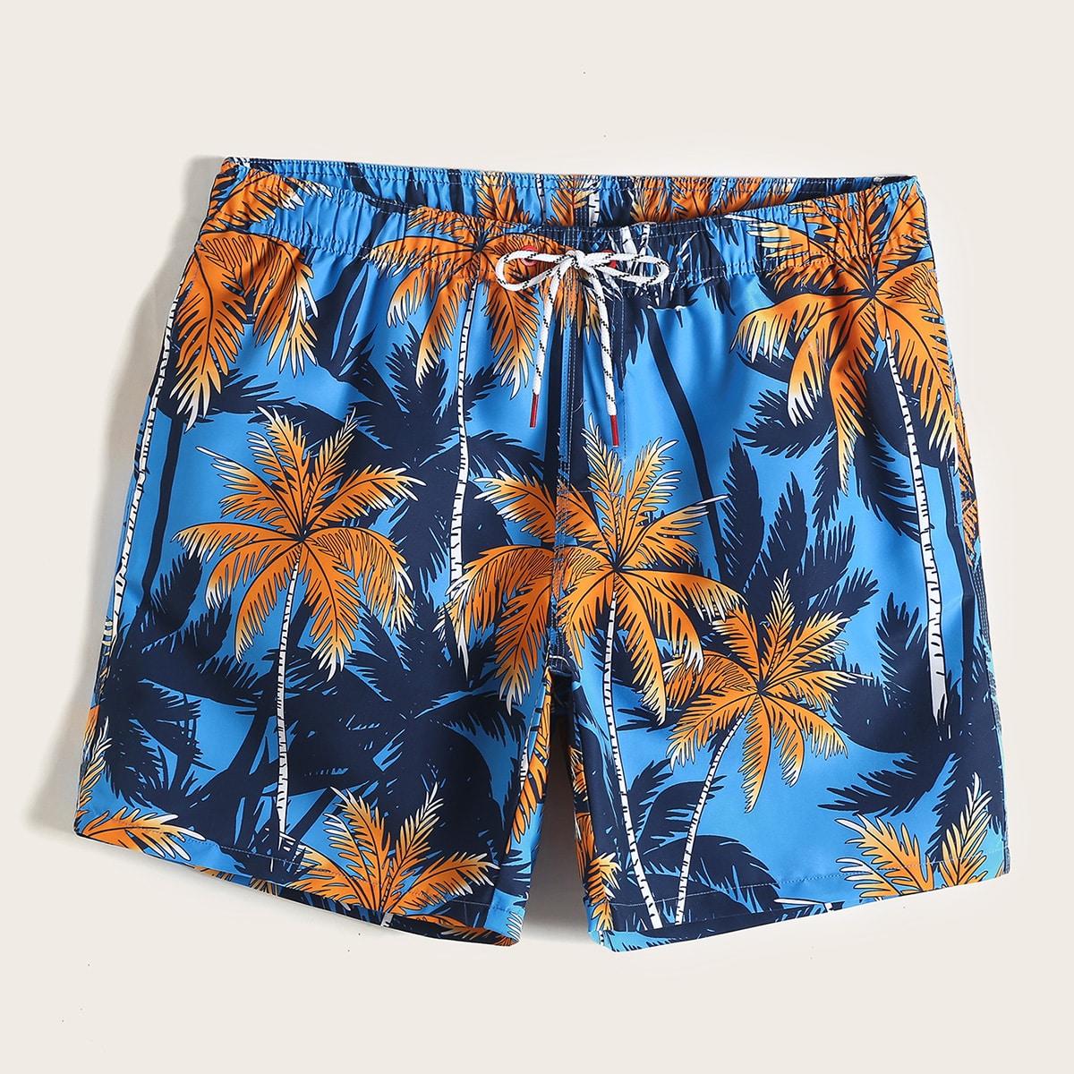 Veel kleurig Vakantie Tropisch Heren badmode Koord