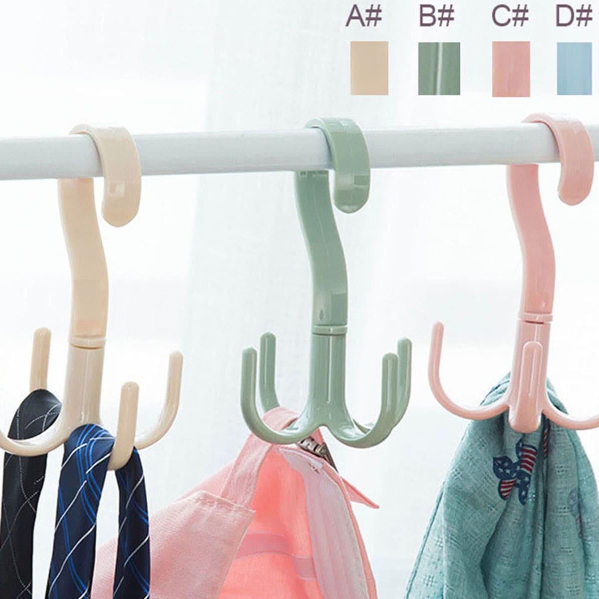 1 st Plastic 4 klauw Design sjaal hanger