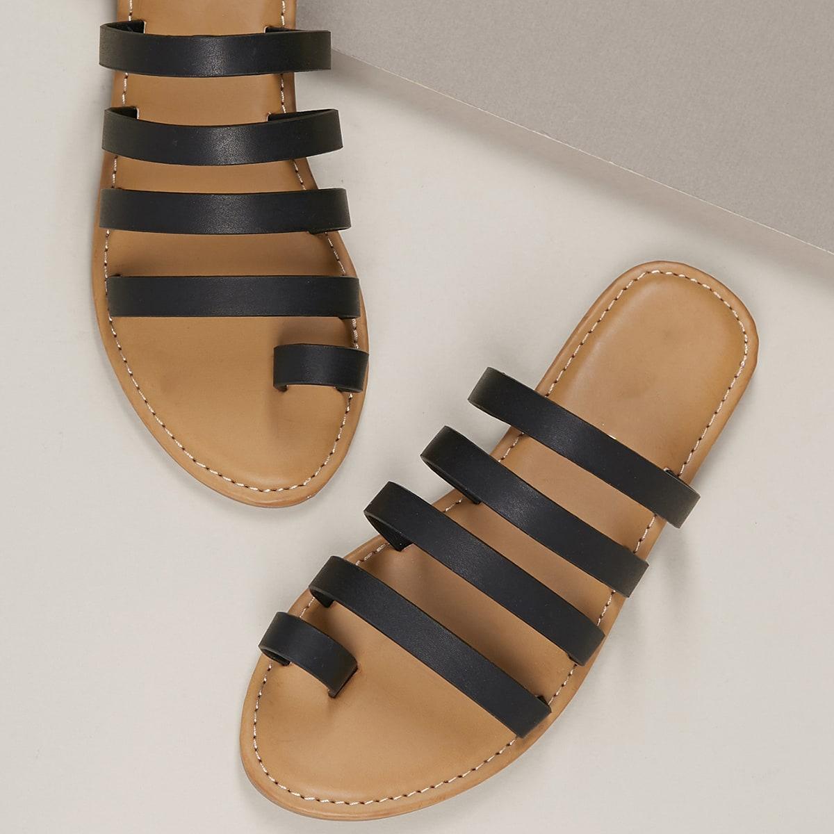 Zwart Boho Sandalen