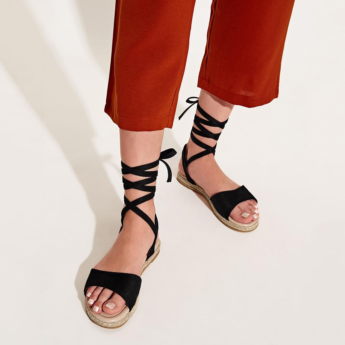 Sandalen van Espadrille met veters
