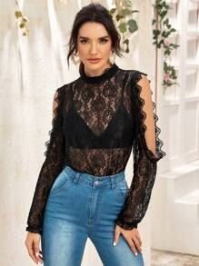 Sleeve | Lace | Out | Cut | Top