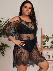 Shoulder | Sheer | Cover | Lace | Plus | Up