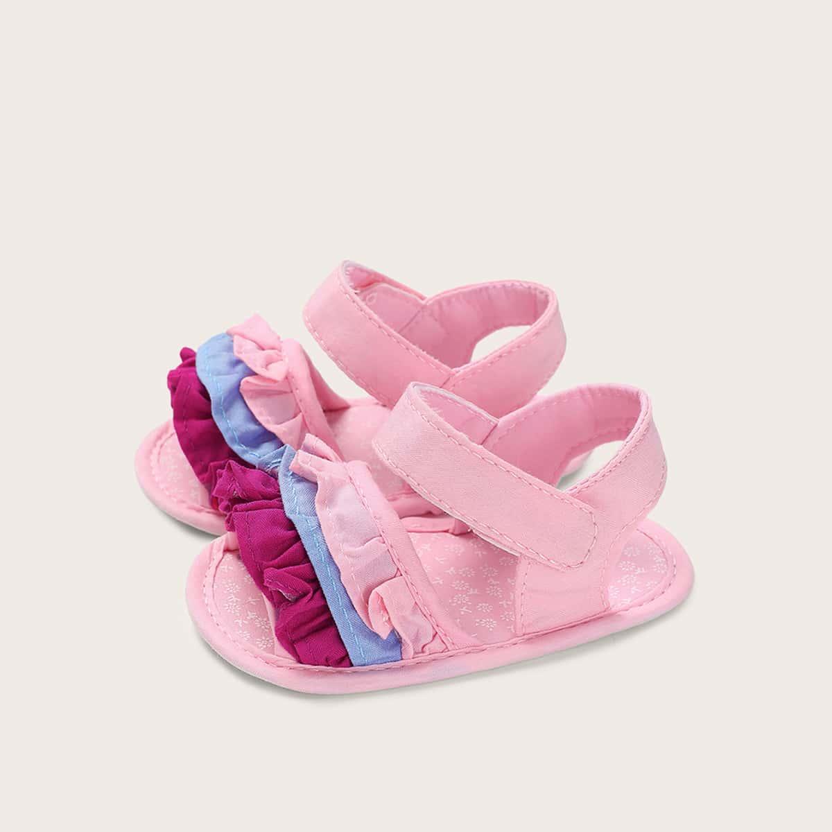 Klittenband sandalen met laagjeslaag voor babymeisjes