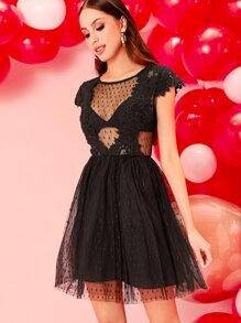 Sheer | Dress | Mesh | Lace | Dot