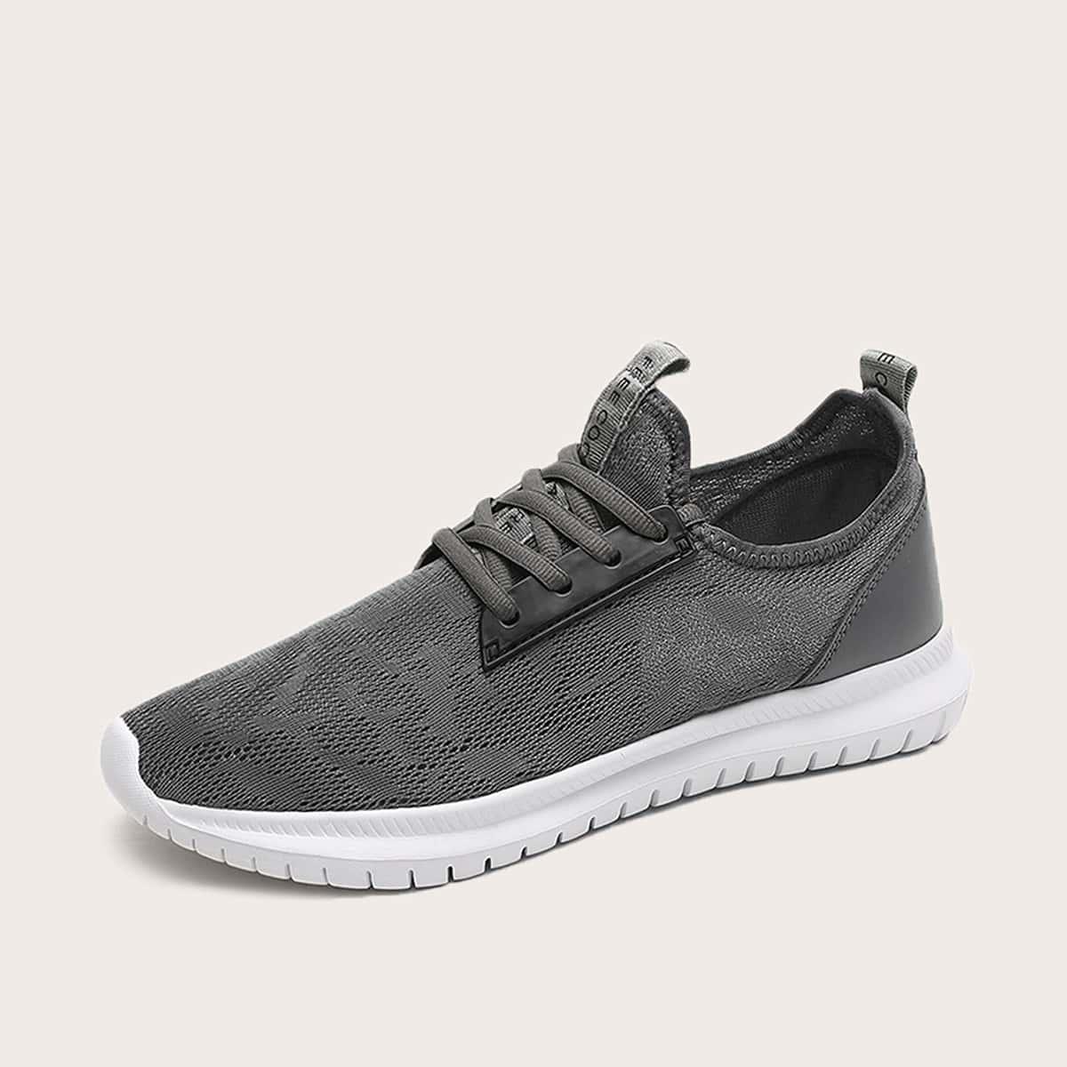 Sneakers met veters aan de voorkant, heren, grafisch