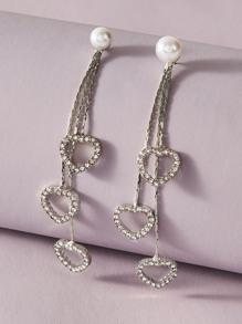 Rhinestone | Engrave | Pendant | Earring | Heart