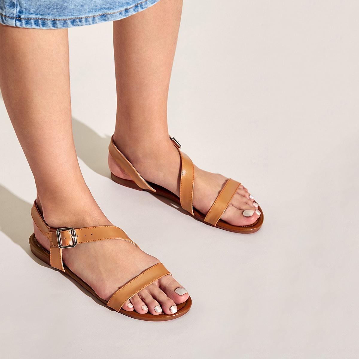 Open sandalen met gesp