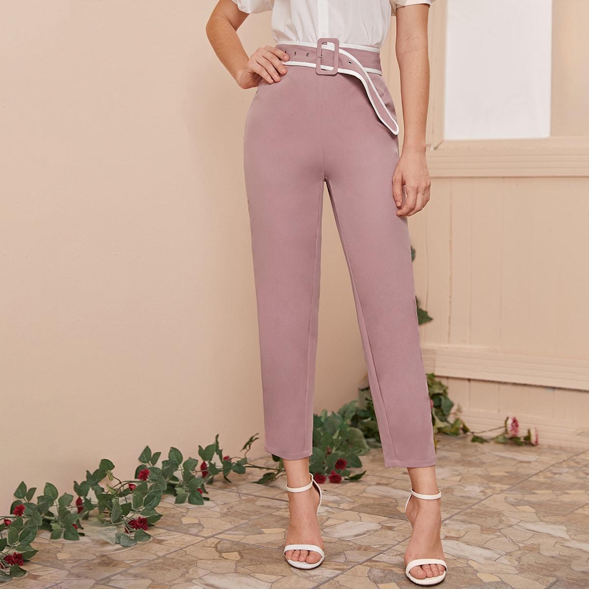 Roze  Elegant Broeken Rits