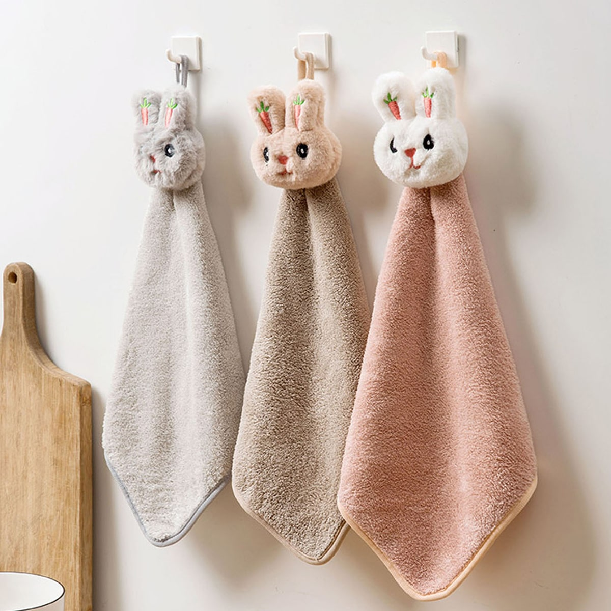 1pc Rabbit Decor Handdoek