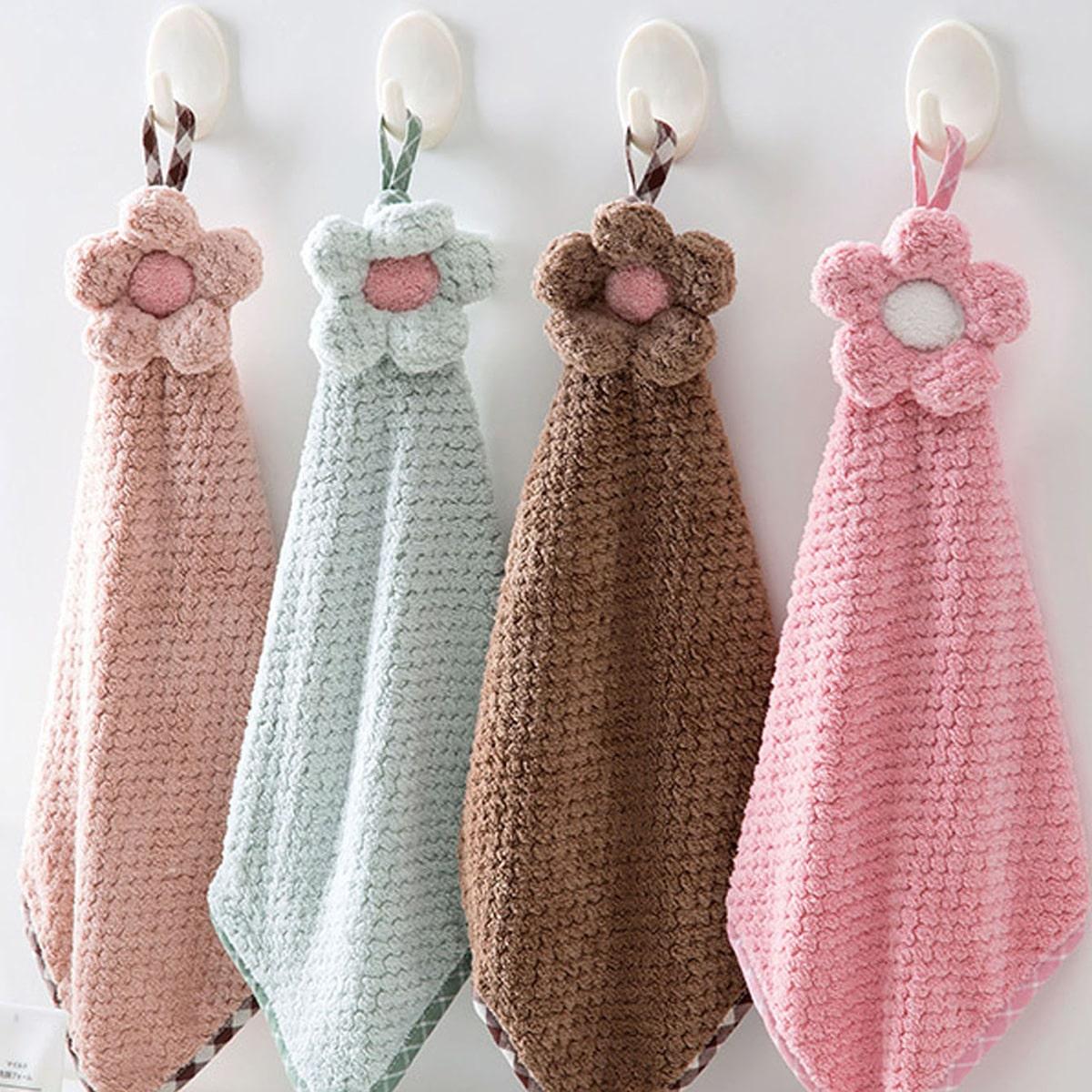 1 st Flower Decor Handdoek